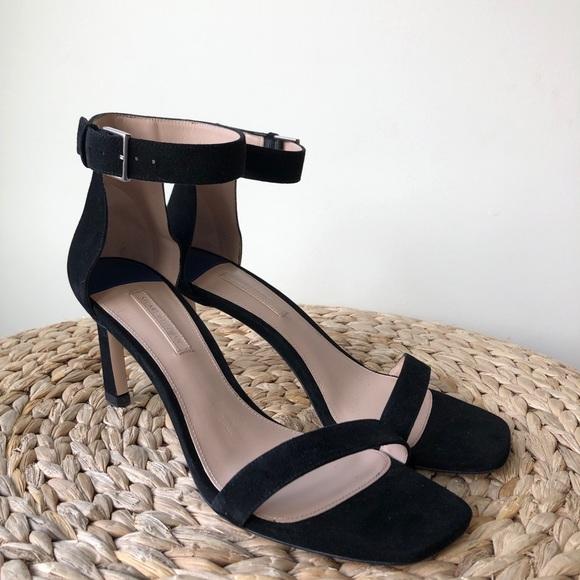 60c1cd2b6d Stuart Weitzman Shoes   75 Square Nudist Heels Black Suede   Poshmark